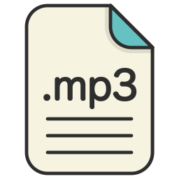 audio, document, extension, file, format, mp3 icon
