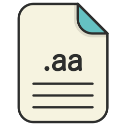 aa, audio, document, extension, file, format icon