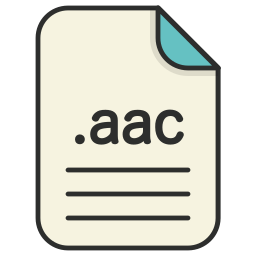 aac, audio, document, extension, file, format icon