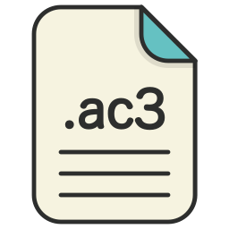 ac3, audio, document, extension, file, format icon