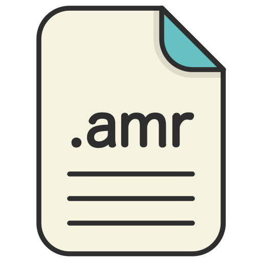 amr, audio, document, extension, file, format icon