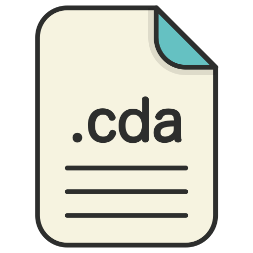 audio, cda, document, extension, file, format icon