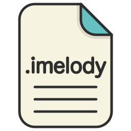 audio, document, extension, file, format, imelody icon