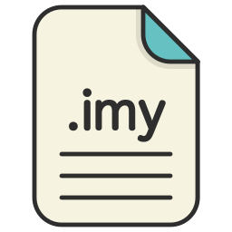 audio, document, extension, file, format, imy icon