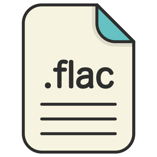 audio, document, extension, file, flac, format icon