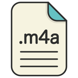 audio, document, extension, file, format, m4a icon