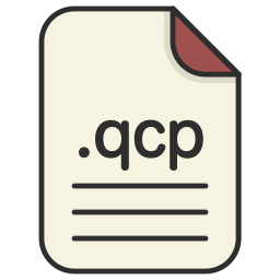 document, extension, file, format, qcp, video icon