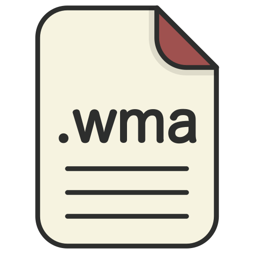 document, extension, file, format, video, wma icon