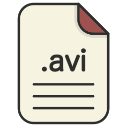 avi, document, extension, file, format, video icon