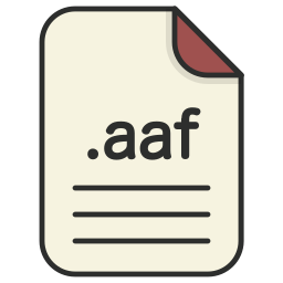 aaf, document, extension, file, format, video icon