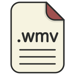 document, extension, file, format, video, wmv icon
