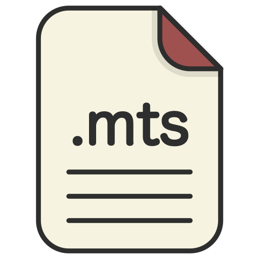 document, extension, file, format, mts, video icon