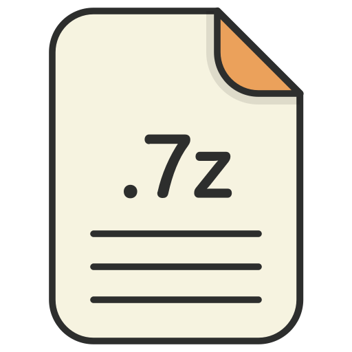 archieve, compressed, document, file, file 7z, format, zip icon
