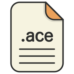 ace, archieve, compressed, document, file, format, zip icon