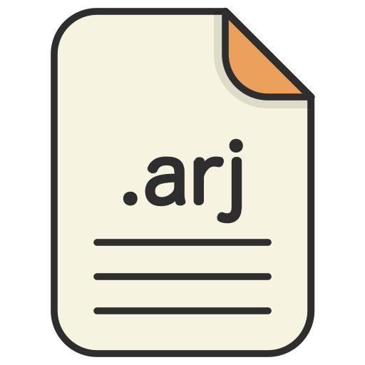 archieve, arj, compressed, document, file, format, zip icon