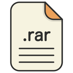 archieve, compressed, document, file, format, rar, zip icon