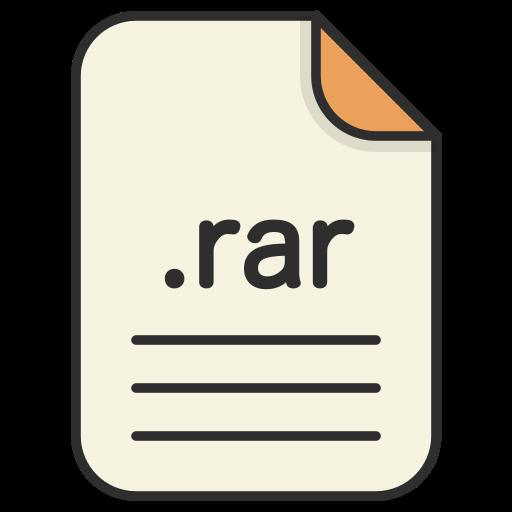 archieve, compressed, document, file, format, rar, zip icon