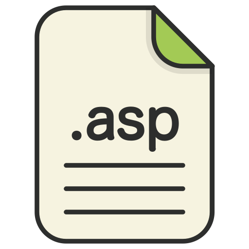 asp, document, extension, file, format, type, web icon