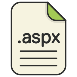 aspx, document, extension, file, format, type, web icon