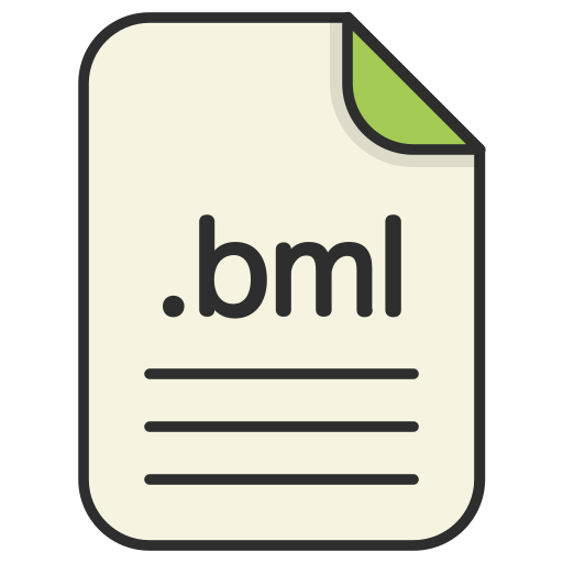 bml, document, extension, file, format, type, web icon