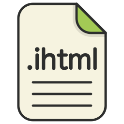 document, extension, file, format, ihtml, type, web icon