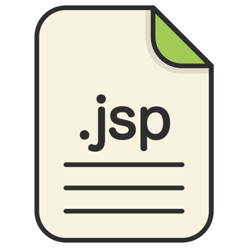 document, extension, format, jsp, type, web icon