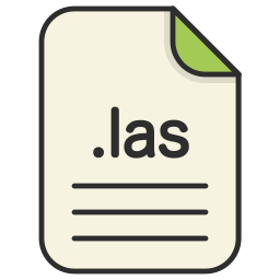 document, extension, file, format, las, type, web icon
