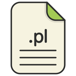document, extension, file, format, pl, type, web icon