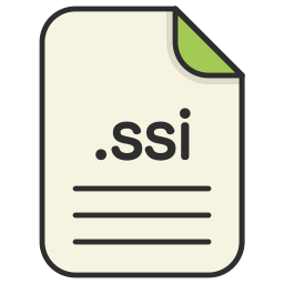 document, extension, file, format, ssi, type, web icon