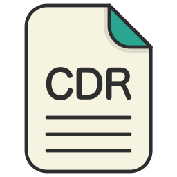 cdr, document, file, generic file, illustrator, vector format icon