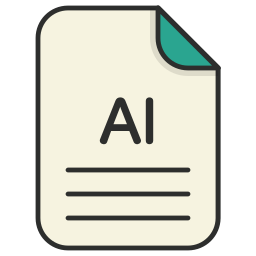 document, file, file ai, generic file, illustrator, vector format icon