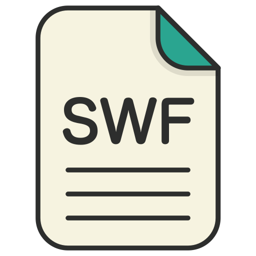 document, file, generic file, illustrator, swf, vector format icon