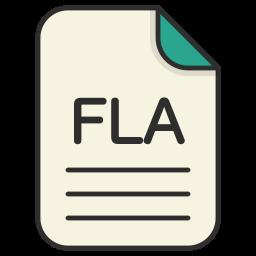 document, file, fla, generic file, illustrator, vector format icon