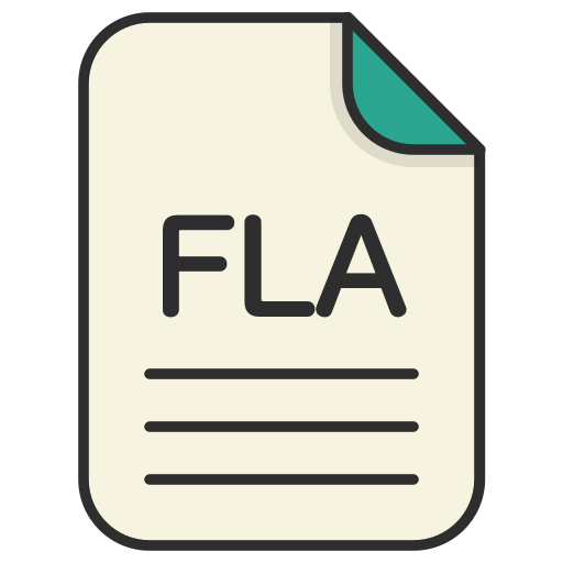 document, file, fla, generic file, illustrator, vector format icon