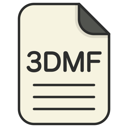 document, file, file 3d, file 3dmf, format, type icon