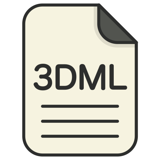 document, file, file 3d, file 3dml, format, type icon