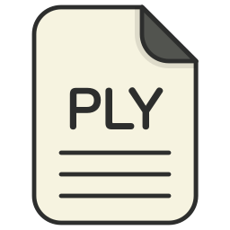 document, file, file 3d, format, ply, type icon