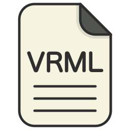 document, file, file 3d, format, type, vrml icon