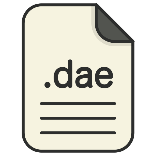 dae, document, file, file 3d, format, type icon