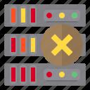 communication, computer, error, storage icon
