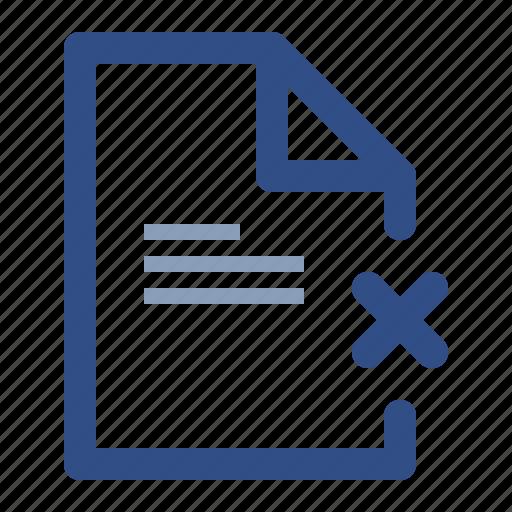 cancel, document, file, invalid, remove icon