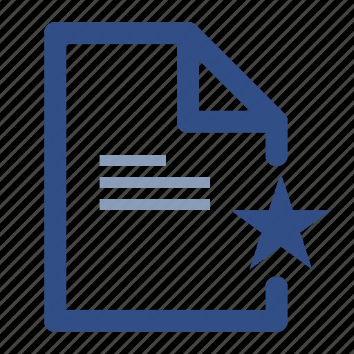 document, favourite, file icon