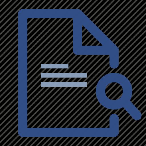 discover, document, file, search icon