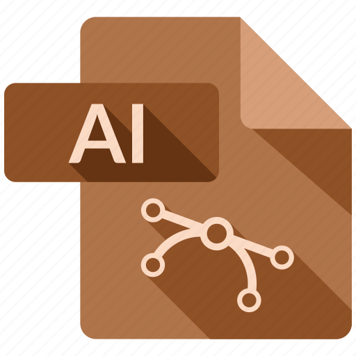 ai file, document, file, tag icon