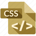 css, document, file, tag icon