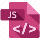document, file, js, tag icon