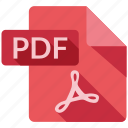 document, file, pdf, tag icon