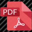 document, file, pdf, tag icon