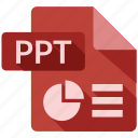 document, file, ppt, tag icon