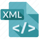 document, file, tag, xml icon